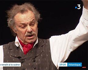 Un interview par France 3 Nouvelle-Aquitaine avec Philippe Caubère, sur les lettres de mon Moulin